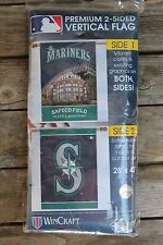 """New Seattle Mariners Premium 2-Sided Vertical Flag made by WinCraft 28"""" x 40"""""""