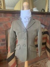 Tiny Childs Equetech Foxbury Tweed Show/Hacking Jacket Size 22 Lead Rein