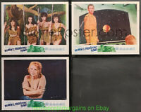 WOMEN OF THE PREHISTORIC PLANET Lobby Card 11x14 Size Movie Poster 3 CARDS