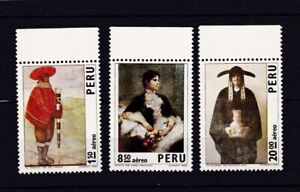 PERU #C367-C369 MNH PERUVIAN PAINTAINGS BY SABOGAL, HERNANDEZ & LASO