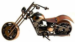 Nautical Handmade Metal Motorcycle Vintage Solid Material Decorative Collectible
