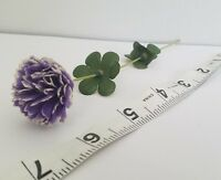 Vintage Purple Carnations Parchment Flowers Millinery Dolls Hats Crafters A10