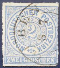 Norddeutscher Bund 2 Groschen Michel 5 gest gepr. Mehlmann BPP #10