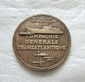 """Médaille en Bronze Compagnie Générale Transatlantique """"Flandre"""""""