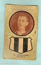 1930s AUSTRALIAN LICORICE FOOTBALLERS CARD - H.  BLACKMORE, BRUNSWICK