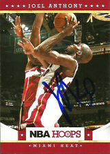 2012 Panini NBA Hoops Joel Anthony MIAMI HEAT Signed Auto Trading Card #1