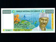 Djibouti/French Somaliland:P-41a,10000 Francs,1999 * Pres. Hassan Gouled * UNC *