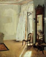 Dream-art beautiful Oil painting interior Indoor landscape hand painted canvas
