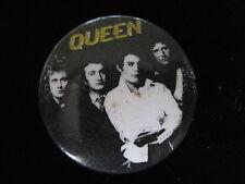 Queen-Freddie Mercury-Black-White-Rock-Pin Badge Button-80's Vintage-Rare