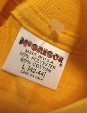 Vintage McGregor One Pocket 50/50% Cotton/Poly Yellow  Color T Shirt. Size L