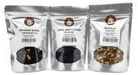 Orange Spice Cinnamon, Earl Grey Loose, Masala Chai Tea Pack served ICED or HOT