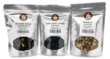 Orange Spice Cinnamon, Earl Grey Loose, Masala Chai Tea Pack served ICED or HOT