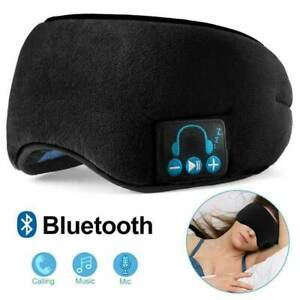 Wireless Bluetooth 5.0 Stereo Eye Mask Headphones Earphone Sleep Headset Black