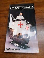 Heller Humbrol 1-75 Santa Maria Model Kit Made In France