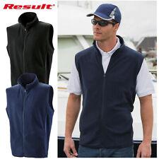 Unisex Fleece Bodywarmer Mens & Womens Gilet Result Core Micofleece Fleece R116X