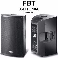 FBT X-LITE 10A 2000w Professional Lightweight Active PA Speaker System Pair