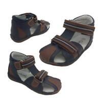 Grosby Skyler Little Boys Sandals Dual Hook And Loop Heel In Size 4-9