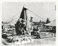 WWII 1940s US Army  training camp 2 photos, tents, mess kits, etc