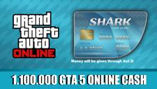 PlayStation 4 (PS4) GRAND THEFT AUTO ONLINE (GTA 5) MONEY SHARK CARD (1,100,000)