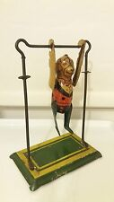 VINTAGE Marx Tumbling Monkey and Trapeze, 1930's tin clockwork wind-up toy-RARE