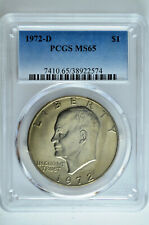 1972 D Eisenhower Dollar $1 PCGS MS 65