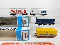 CO881-0,5# 4x Märklin H0/AC Güterwagen: 4405 CFL+4483 SJ+DSB+SNCF, NEUW+2x OVP