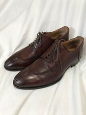 barneys new york mens shoes Brown Leather Vera Gomma Oxfords 9 M