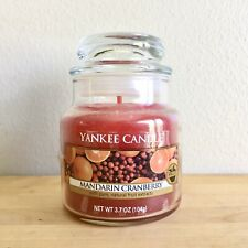 Yankee Candle 3.7oz Mandarin Cranberry Small Jar Candle Scented Fresh Fruit