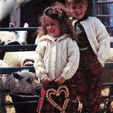 Knitting pattern- Childs Aran  cardigan & Hooded Jacket