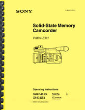 Sony PMW-EX1 Camcorder Operating INSTRUCTIONS MANUAL