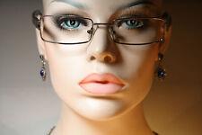 Used BURBERRY B 8969/S Rectangular Silver & Dark Purple Glasses Frames 51 19