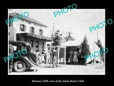 OLD LARGE HISTORIC PHOTO OF RYLSTONE NEW SOUTH WALES, THE GLOBE HOTEL c1940