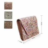 New Women's Glitter Purse Girls Designer Style Wallet Card Holder Coin Purse