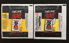 A&BC and Topps 1968/66 Comic Book Foldees 3d and 5c Wax Gum Card Wrappers