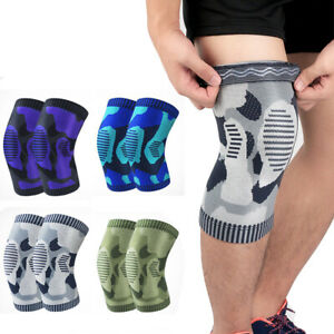 Elastic Sports Support Knee Pads Silicone Non-slip Knee Protection 1 Piece