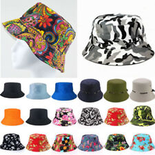 Unisex Men Women Bucket Hats Floral Boonie Hiking Fishing Cap Summer Sun Hat