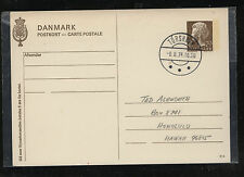 Faroe  Islands Denmark postal card  to  Hawaii       KL1004