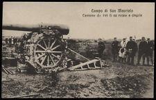 cartolina S.MAURIZIO CANAVESE campo di.. cannone a 149 g su rotaie a cingolo