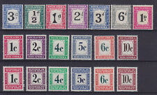SOUTH AFRICA 1922/1967, POSTAGE DUE, 19 STAMPS, MNH/MLH
