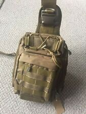 Large Tactical Shoulder Backpack Fly Fishing Sling Bags Water Resistant MOLLE...