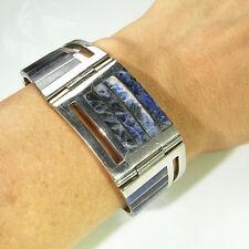 Sodalite Bracelet Sodalite Jewelry Unisex Cuff Bangle Sterling Silver Mens R3796