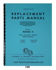 Kearney Amp Trecker Repair Parts Manual For 2 Model H Milling Machine Hr 23 130