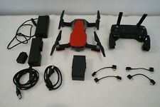 DJI MAVIC AIR DRONE RED U11X USED W REMOTE CONTROLLER CHARGER BATTERY ALL CABLES