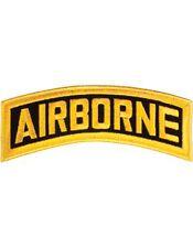 "N-004 Airborne Tab Gold on Black 8"""