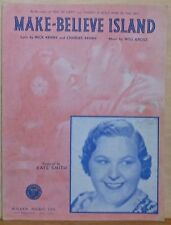 Make-Believe Island - 1940 sheet music - photo cover with Kate Smith
