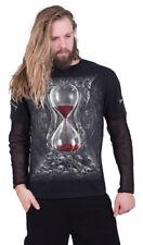 SPIRAL SANDS OF DEATH MESH SLEEVE ZIP SHOULDER LONG SLEEVE T Shirt/Skull/Cross