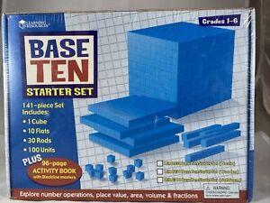 Learning Resources Base Ten Starter Set Plastic Blue LER0930