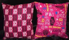 TWO (2) NEW HANDMADE ONE DIRECTION  TRAVEL THROW CUDDLE PILLOWS