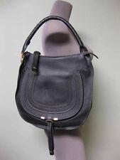 Chloe AUTH NWT Black Calf Pebbled Leather Medium Marcie Hobo Shoulder Bag