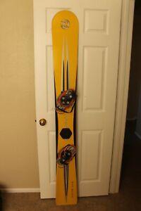Rossignol Carving Snowboard~190cm~Yellow~World Cup~Burton Race Bindings
